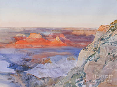 Park Scene Painting - Last Glow Grand Canyon by Bernard Marks