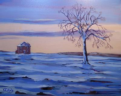Wall Art - Painting - Last House Standing by Edward Abela