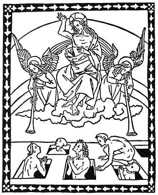 Jesus Drawing - Last Judgement by Granger
