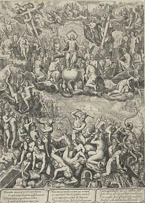 Mercy Drawing - Last Judgment, Barbara Van Den Broeck, Hendrick Hondius by Barbara Van Den Broeck And Hendrick Hondius