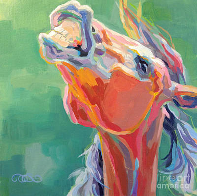 Bay Thoroughbred Horse Painting - Last Laugh by Kimberly Santini