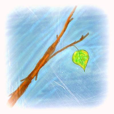 Last Leaf Print by Chandana Arts