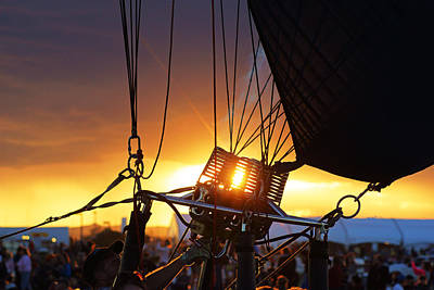 Photograph - Last Light At Balloon Fiesta by Daniel Woodrum