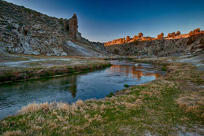 Hot Creek Photograph - Last Light At Hot Creek by Cat Connor