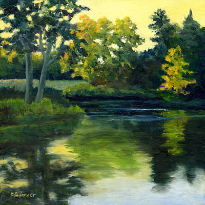 Last Light At Kendall Pond Original by Elaine Farmer
