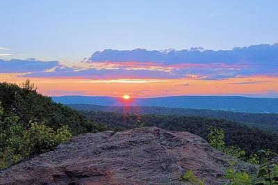 Photograph - Last Light At Penns View by Joel E Blyler