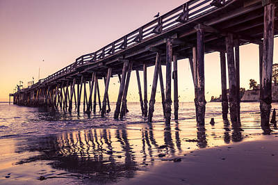 Photograph - Last Light At The Capitola Wharf by Priya Ghose