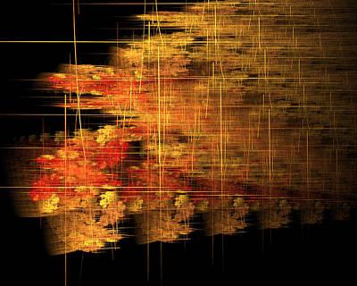 Digital Art - Last Light Before Night Go Into Bamboo by Richard Ortolano