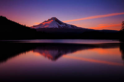 Mount Hood Photograph - Last Light by Darren  White