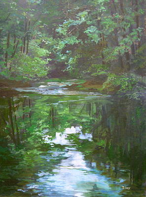 Painting - Last Light by Denise Ivey Telep