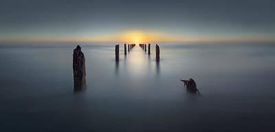 Silence Photograph - Last Light by Nadav Jonas