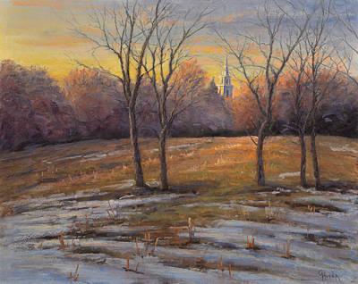 Painting - Last Light Old Goshenhoppen Church by Gary Huber