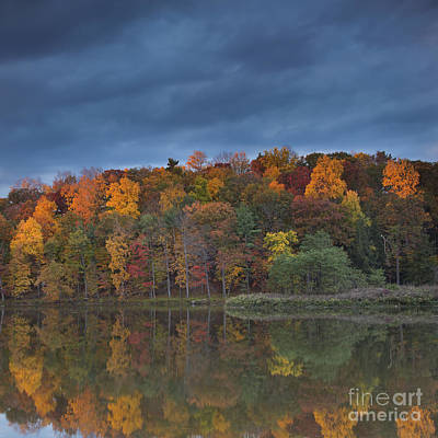 Finger Lakes Photograph - Last Light On Beebe Lake by Michele Steffey