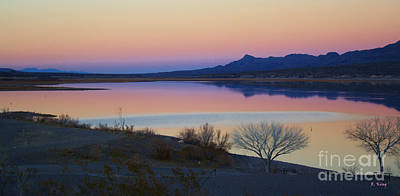 Photograph - Last Light On Caballo Lake by Roena King