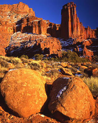 Photograph - Last Light On Fisher Towers by Ray Mathis
