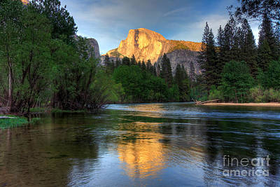 Reflections Photograph - Last Light On Half Dome by Mimi Ditchie
