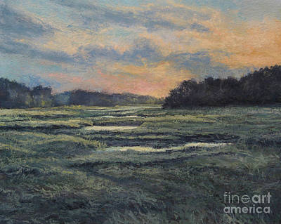 Painting - Last Light On The Marsh - Wellfleet by Gregory Arnett