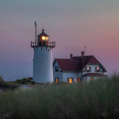 Provincetown Ma Photograph - Last Light Square by Bill Wakeley