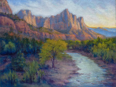 Painting - Last Light Zion Cznyon by Marjie Eakin-Petty