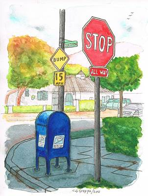 Last Mailbox In Toluca Lake, California Original by Carlos G Groppa