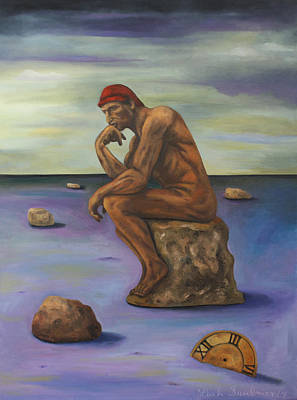 Apocalyptic Painting - Last Man In The World by Leah Saulnier The Painting Maniac