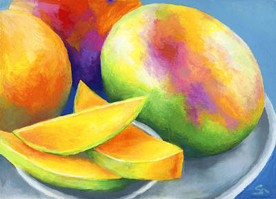 Tropical Fruit Painting - Last Mango In Paris by Stephen Anderson