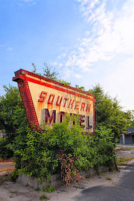 Photograph - Last Morning At The Southern Motel - Vintage Signs by Mark E Tisdale