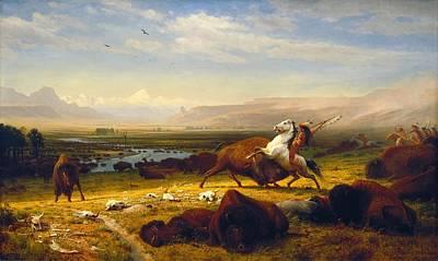 Last Of The Buffalo Art Print by Albert Bierstadt