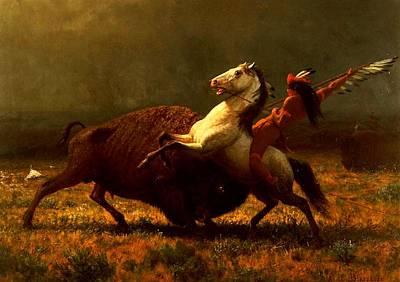 Last Of The Buffalo Hunt Art Print