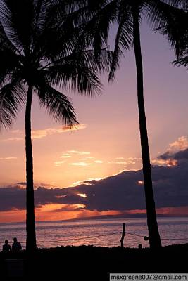 Photograph - Last Of The Sun On Maui by Max  Greene