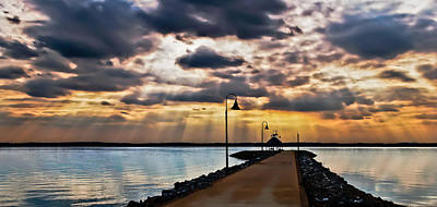 Art Print featuring the photograph Last Rays by Greg Jackson