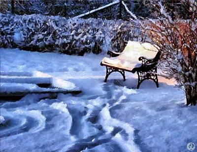 Snowscape Digital Art - Last Rays by Gun Legler