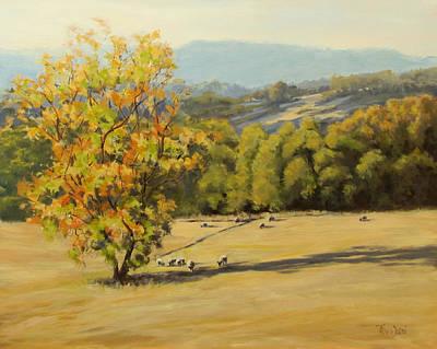 Painting - Last Rays by Karen Ilari