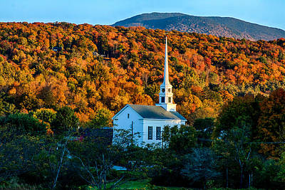 Photograph - Last Rays Of Autumn Sun On Stowe Church by Jeff Folger