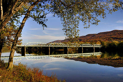 Photograph - Last Reflections Of The Old Bridge by Gene Walls