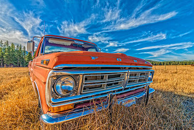 Photograph - Old Ford Truck Last Resting Place by James Hammond
