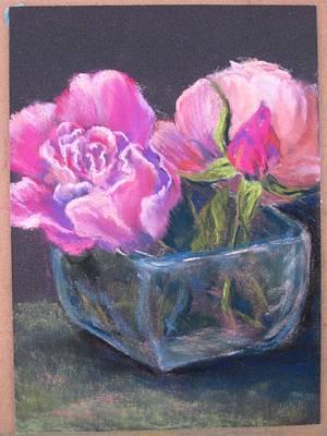 Pastel - Last Roses by Marlene Kingman