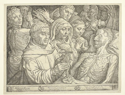 Weeping Drawing - Last Sacrament, Jan Cornelisz Vermeyen by Jan Cornelisz Vermeyen
