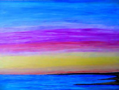 Pastel - Last Sliver Of Sunset by Daniel Dubinsky