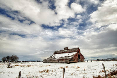 Photograph - Last Snow Barn by Mary Jo Allen