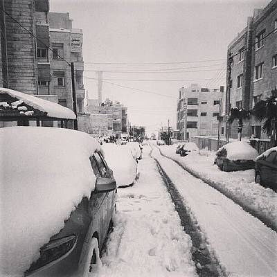 Last Snow In Amman,  Dec. 13 #beamman Art Print