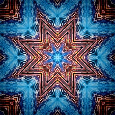 Photograph - Last Snowflake Mandala by Beth Sawickie