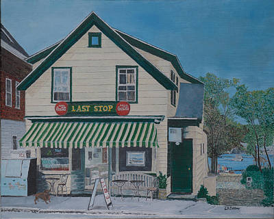 Painting - Last Stop Market by Laurence Dahlmer