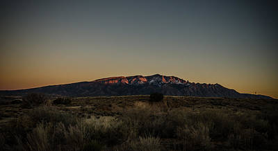 Photograph - Last Sun Light On Sandia Mountains by Anthony Doudt