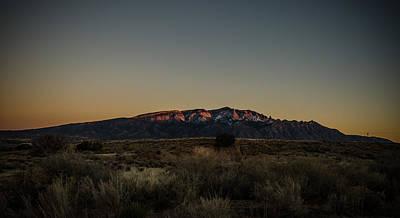 Photograph - Last Sun Light On Sandia Mountains by Anthony Doudt