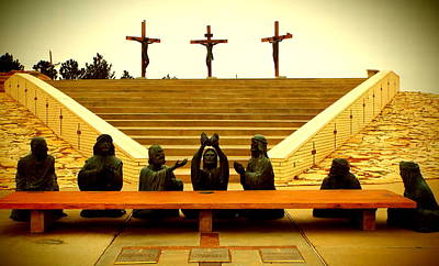 Photograph - Last Supper - Crucifixion by Cindy Croal