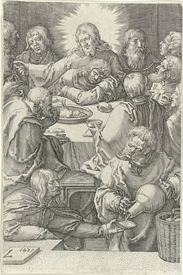 3.14 Drawing - Last Supper, Jan Harmensz by Jan Harmensz. Muller
