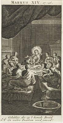 Matthew 26 Drawing - Last Supper, Jan Luyken, Anonymous by Jan Luyken And Anonymous