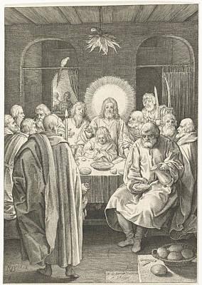 Matthew 26 Drawing - Last Supper, Nicolaes De Bruyn by Nicolaes De Bruyn