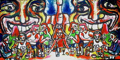 Painting - Last Supper Party The Present Vulgarity by Kenneth Agnello
